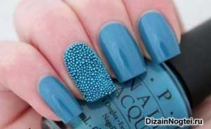 Летний модный дизайн ногтей 2013 c эффектом икры
