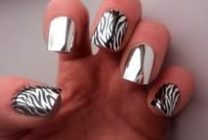 Летний модный дизайн ногтей 2013 с эффектом металлик