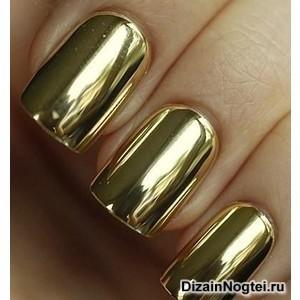 Летний модный дизайн ногтей 2013 лак металлик